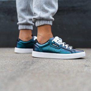 adidas Sleek Leather Iridescent Sneakers NIB
